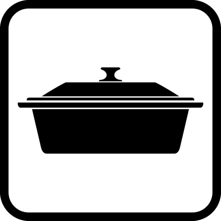 Kitchen pan - Vector icon isolated on white