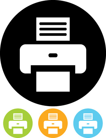 Drucker - Vector-Symbol isoliert Vektorgrafik