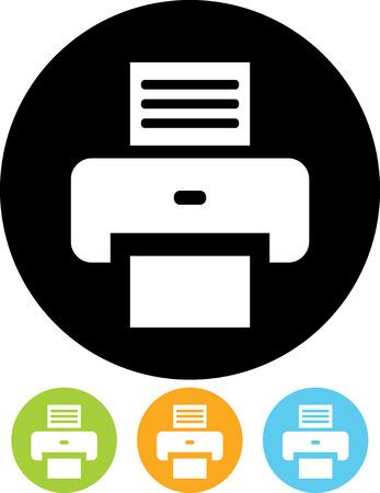 geïsoleerd Vector icon - Printer Vector Illustratie