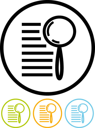 Search text - Vector icon isolated Ilustração