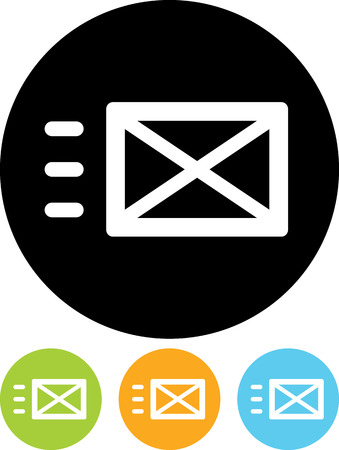 Send message - Vector icon isolated