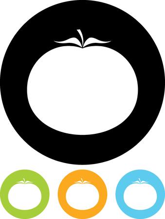 토마토 - 절연 벡터 아이콘 일러스트