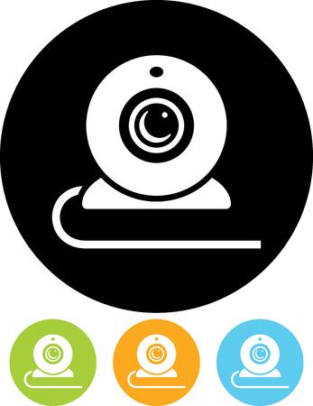 Webcam video camera vector icon
