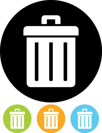 Trashcan vector icon Illustration