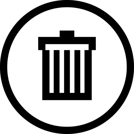 Trash can - Vector icon isolated