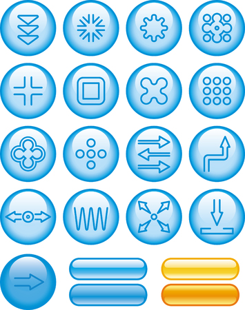 Abstract shapes buttons icons vector