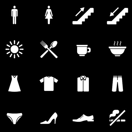 Shopping centre vector icons set Illustration