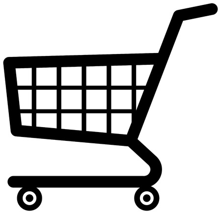 Shopping cart ecommerce vector icon Illustration
