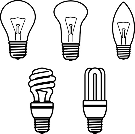 Light bulbs lightbulbs vector illustration Ilustração