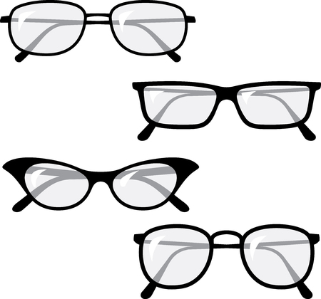 Eyeglasses glasses vector illustrations