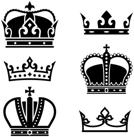 Royal crowns vector Ilustração