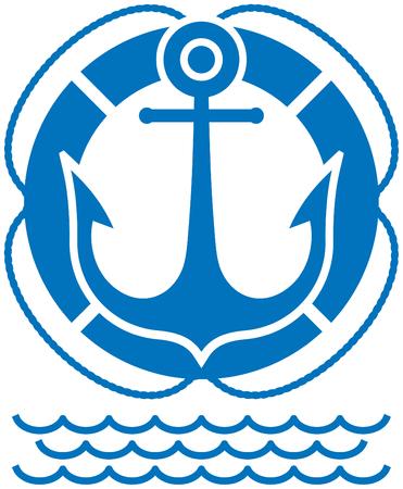 Anchor and buoy navy emblem