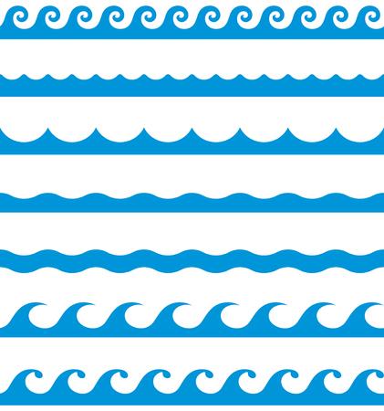 fale wodne wzory bez szwu linii granicznej