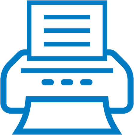 Vector printer icon 向量圖像