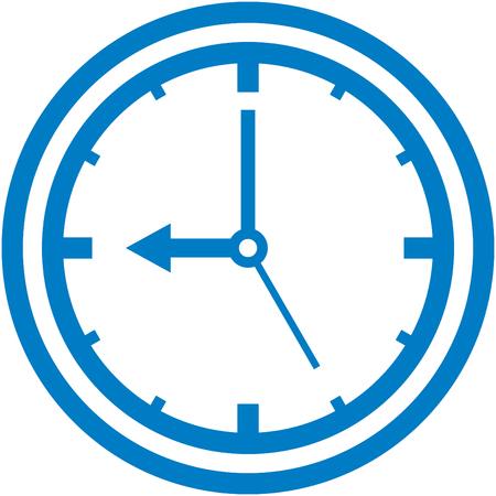 Vector clock icon Illusztráció