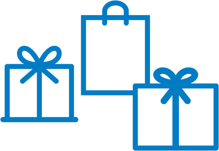 Holiday gifts and gift boxes vector isolated