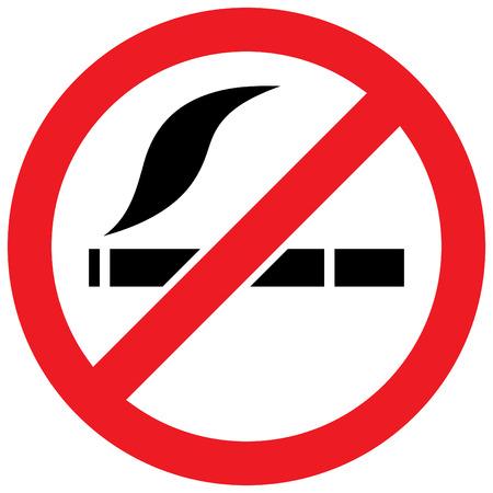 Muestra de no fumadores - ilustración vectorial