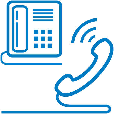 Vector telephone and phone receiver illustration. Contact us Illustration