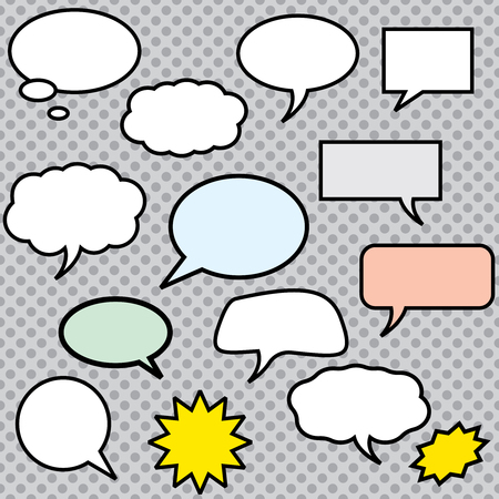 Vector comics speech bubbles illustration