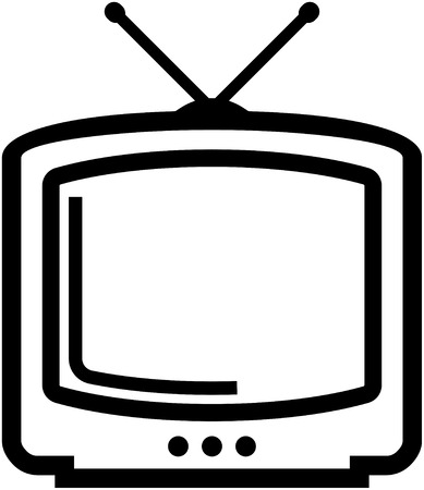 TV vector icon isolated Ilustrace