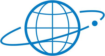 Satellite orbit Vector illustration