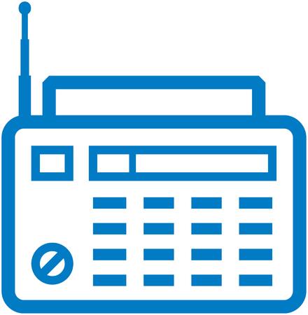 Radio - Vector icon isolated on white