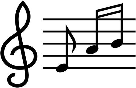 Music notes - Vector illustration