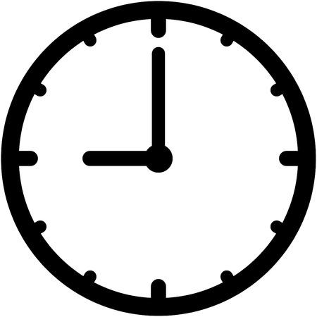 절연 벡터 시계 아이콘