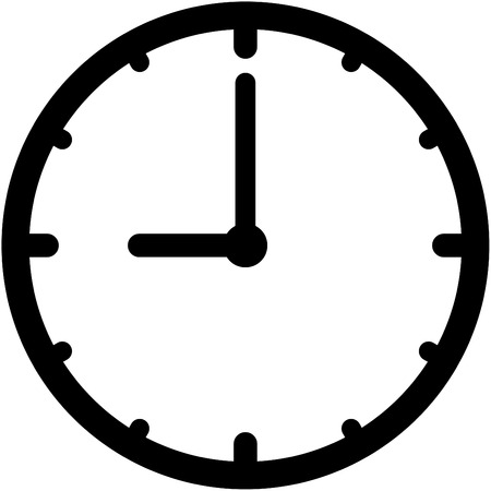 Vector clock icon isolated