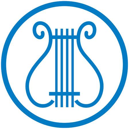 Liras símbolo de la música - ilustración del vector