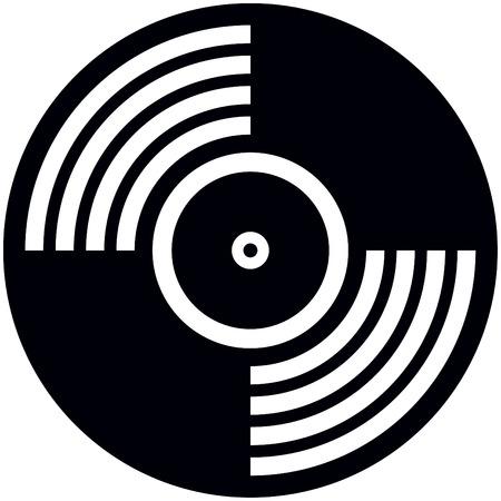 Vector Vinyl Disc Schallplatte isoliert Vektorgrafik