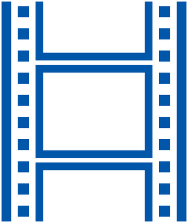 Photo film frames vector isolated Çizim