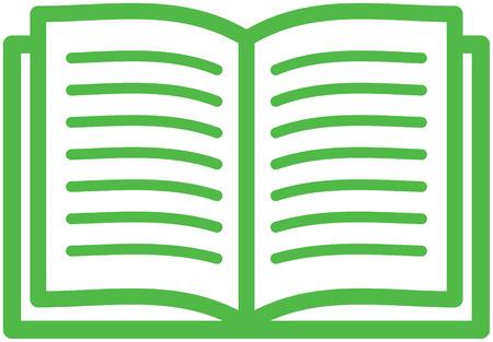 geïsoleerd open boek vector