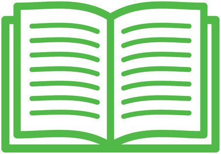 Open book vector isolated