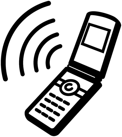 Ringing mobile phone icon - Vector illustration