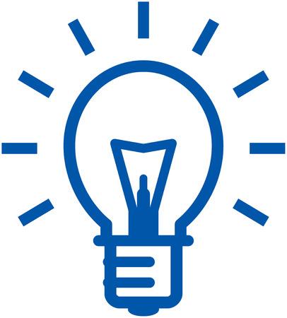 Lampadina brillante icone vettoriali Archivio Fotografico - 53139202