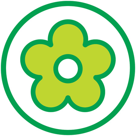 Flower logo simple vector illustration isolated
