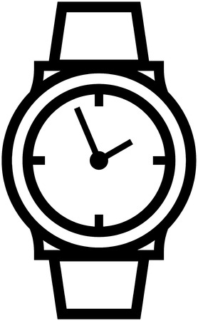 Watch wristwatch vector icon