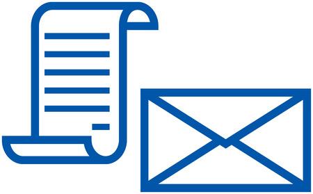 Mail, correspondentie - Vector illustratie Stock Illustratie