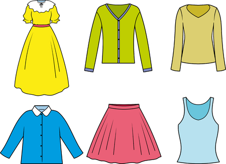 Women's woman clothes vector isolated