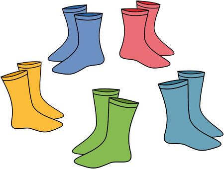 Pair socks vector illustration isolated