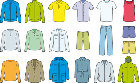 Heren kleding geïsoleerd