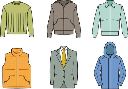 Mens Clothes - Vector color illustration