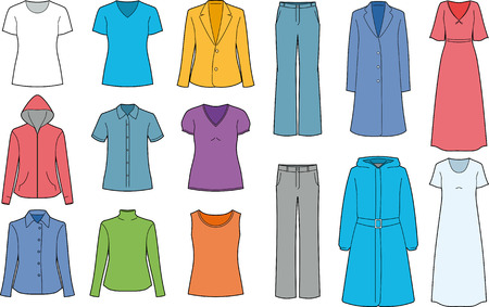 Womens clothes isolated Иллюстрация