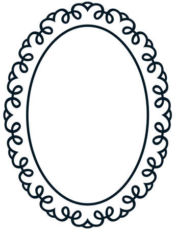 Oval baroque vintage border photo frame deco