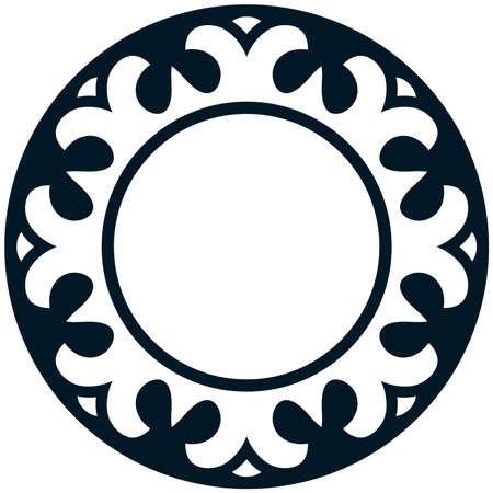 Round border frame vintage deco vector logo 矢量图像