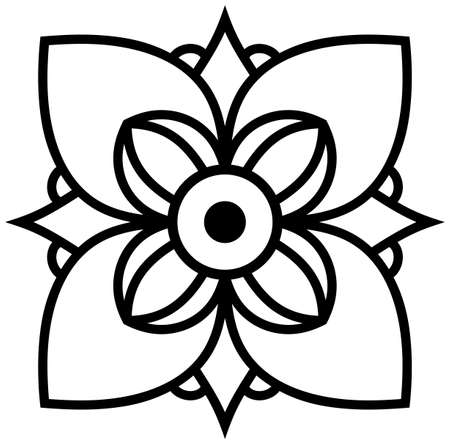 Mandala flower oriental tattoo logo vector isolated