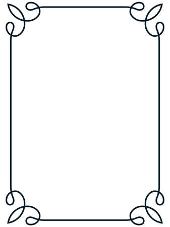 Frame border line page vector vintage simple
