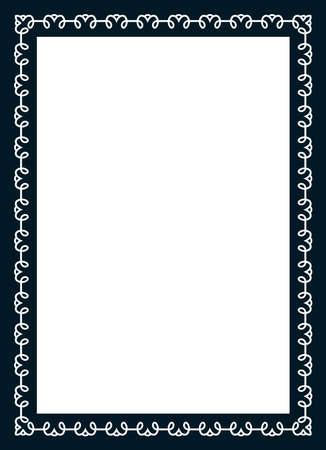 Photo picture art frame border passe-partout vector simple