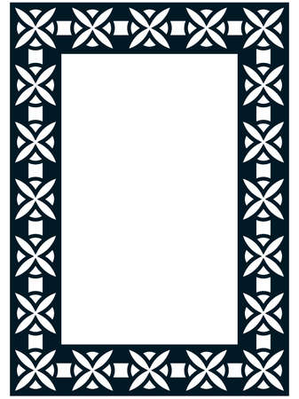 Photo picture art frame border passe-partout vector simple